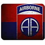 82nd Airborne Division US Luftlandedivision All American America's Guard of Honor US Army Fallschirmjäger Wappen Abzeichen Fahne - Mauspad Mousepad Computer Laptop PC #15645