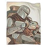 Manta ultra suave y cálida para CampingStar Wars The Mandalorian Baby Yoda Poster Camping...