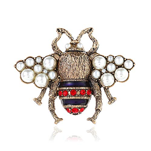 1pc Kleidung Stereo 3D Bee Pearl Pin cute HoneyBee brooch Pearl Frauen Brosche und PIN für Mädchen Damen und Herren