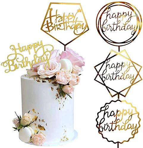 Sunshine smile Cake Topper Happy Birthday,acryl Cake Topper,Glitter Cake Topper,kuchendekoration Geburtstag,tortenaufsatz,tortendeko,tortenstecker Geburtstag,kuchendeckel,Cupcake Topper (5 Stück)