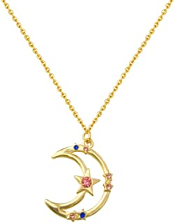 MYANAIL Nine Planets Pendant Necklace Sailor Moon Guardian Star Clavicle Necklace, Astronomy Enthusiast Gift Jewelry