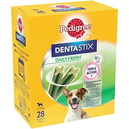 Pedigree Dentastix Fresh - Friandises pour petit chien, 112 bâtonnets à mâcher pour l'hygiène bucco-dentaire (16 sachets de 7 Sticks)