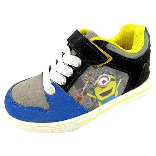 Minions Ich - Einfach Unverbesserlich Jungen Sneaker Schuhe Pumps Schnürsenkel Klettverschluss, Blau - Blau Schwarz Gelb - Größe: 28 EU