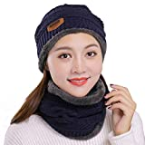 Muryobao Winter Hats and Scarf Set Knitted Slouchy...