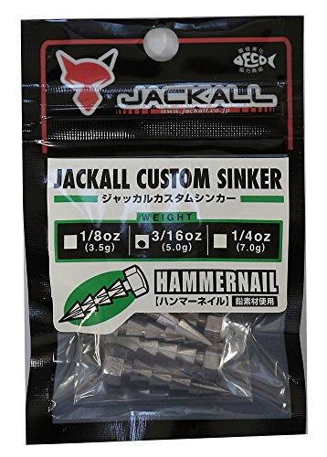 JACKALL(ジャッカル) JKカスタムシンカーハンマーネイル 5.0g(3/16oz) 6個入.