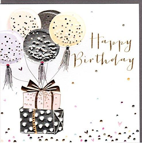 Belly Button Designs Glückwunschkarte zum Geburtstag mit Kristallen, Prägung und farbiger Folienauflage .BB398
