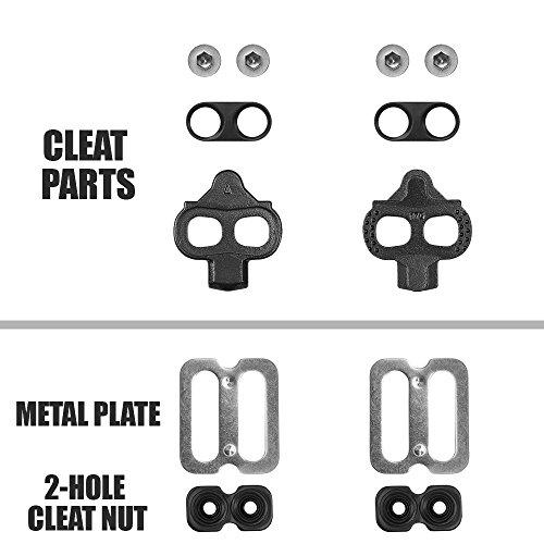 BV Fahrrad-Shimano Schuhplattenset, Shimano SPD Pedalplatten Set, SPD Compatible Bike Cleats - 5