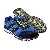 Goodyear Workwear GYSHU1573 - Zapatillas deportivas para hombre, ligeras, de seguridad, deportivas, no metálicas, punta compuesta, entresuela S1P/SRA, 7/41, azul, 1