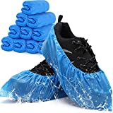 Shoe Covers Disposable Non-slip for Indoors -100 Pack (50 Pairs) Waterproof Premium CPE Booties Shoes Protectors Coverings, fits up to size 11 US Men and 13 US Women, Blue, Large