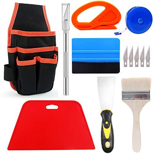Ewrap Tapezierwerkzeuge Tapezierset mit Werkzeugtasche, Trimmwerkzeug, Rakel, Farbschaber, Pinsel,...