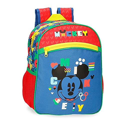 Disney Mickey Shape Shifter Mochila Escolar Adaptable a Carro Multicolor 27x33x11 cms Poliéster 9,8L