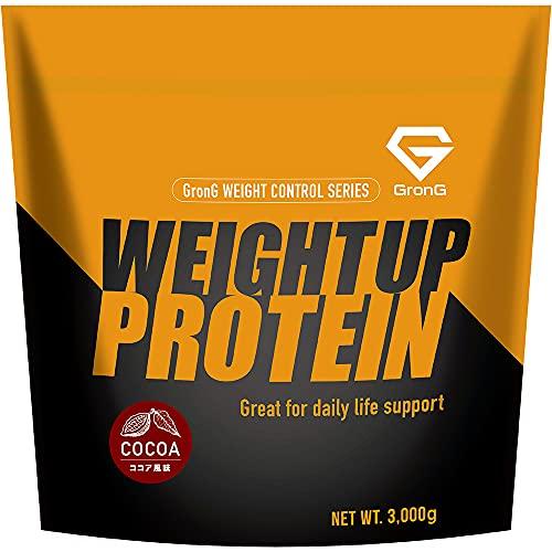 GronG(グロング) ホエイプロテイン100 ウェイトアップ ココア風味 3kg