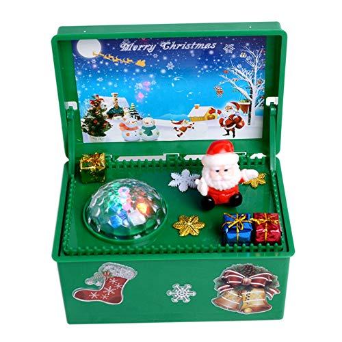 EFINNY Glühende Weihnachtsspieluhr Haushalt Einzigartige Weihnachtsspieluhr Für Geschenk Weihnachten Kinder Spielzeug