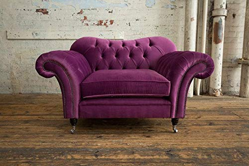 JVmoebel Chesterfield Design Sofa Sessel Couch Polster Luxus Textil Couchen 1 Sitzer #131