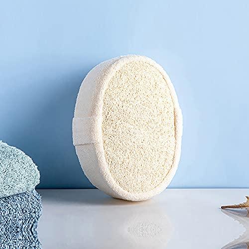 Eco Memos Esponja de lufa natural exfoliante para el cuerpo, esponja exfoliante orgánica, esponja exfoliante para baño, esponja para spa