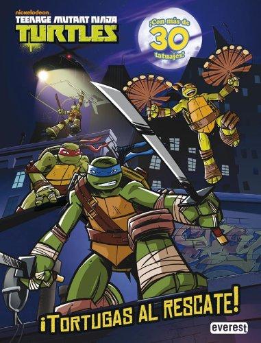 Teenage Mutant Ninja Turtles. ¡Tortugas al rescate! Libro de actividades con tatuajes: ¡Con más de 30 tatuajes!