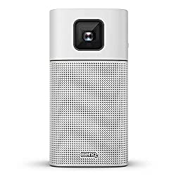 BenQ GV1 Smart, Stylish, Portable LED Projector | DLP | in-Built Battery | Wi-Fi | Hotspot | Wireless Display | Bluetooth Speaker | Unique Tilt Hinge | Auto Key Stone | 100
