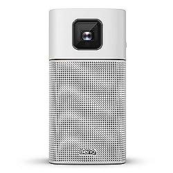 BenQ GV1 Smart, Stylish, Portable LED Projector | DLP | in-Built Battery | Wi-Fi | Hotspot | Wireless Display | Bluetooth Speaker | Unique Tilt Hinge | Auto Key Stone | 100