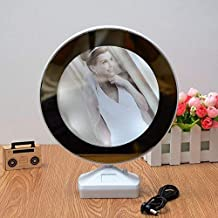 Swarup 2-in-1 Mirror Photo Frame with LED Light (Assorted Colour, 15 cm)