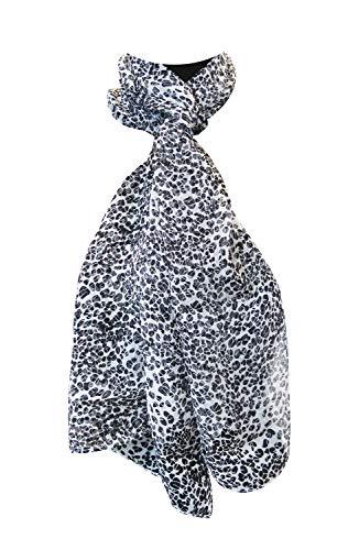 tessago Sciarpa da donna 100% seta maculato mis 33x150 cm Made in...