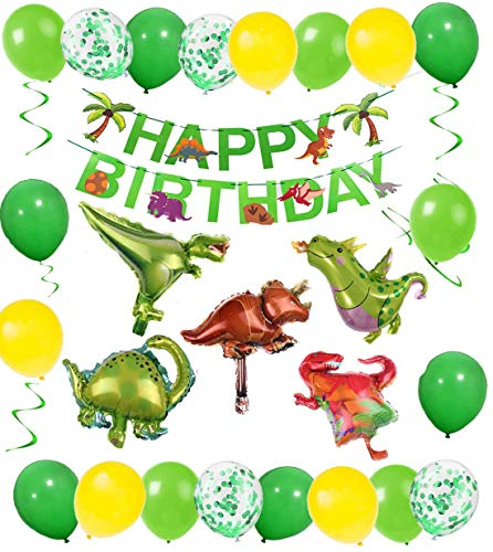 Decoracion Cumpleaños Globos De Cumpleaños, Globos De Cumpleaños, Fiesta Cumpleaños Infantil, Globos Dinosaurios, Happy Birthday Banner, Fiestas De Dinosaurios Globos