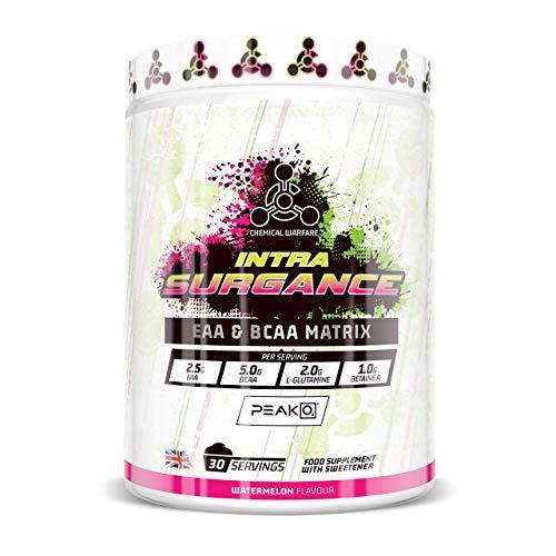 Intra Surgance - Hydration Drink, BCAA Powder with EAA Amino Acids & Electrolyte Powder plus Peak O2 Energy Powder for Endurance. Sugar Free (30 Serv)