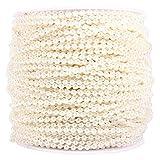 50M Roll 3mm Línea de Pesca Perlas Cadena de Cuentas de la Cadena de Guirnalda Decoración de la Boda Centerpieces (Color : Beige)