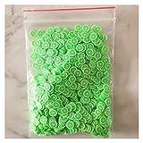 MiaoMiao 1KG 100000 UNIDS Arcilla de Limo Bricolaje Accesorios Juguetes Mini Frutas Rebanadas Mullido Clear Slime Fruit Toy Service (Color : Rose Red)