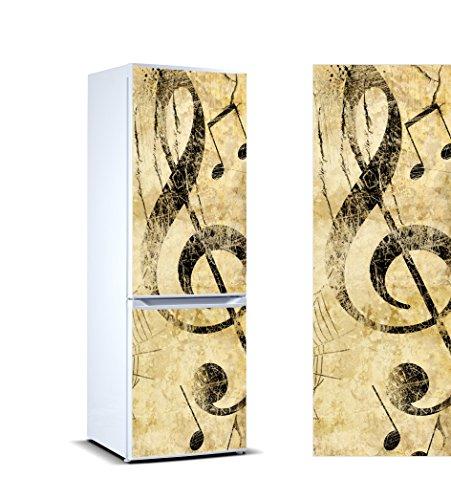 Vinilo para Frigorífico Clave de Sol |Varias Medidas 185x60cm | Adhesivo Resistente y de Facil Aplicación | Pegatina Adhesiva Decorativa de Diseño Elegante|