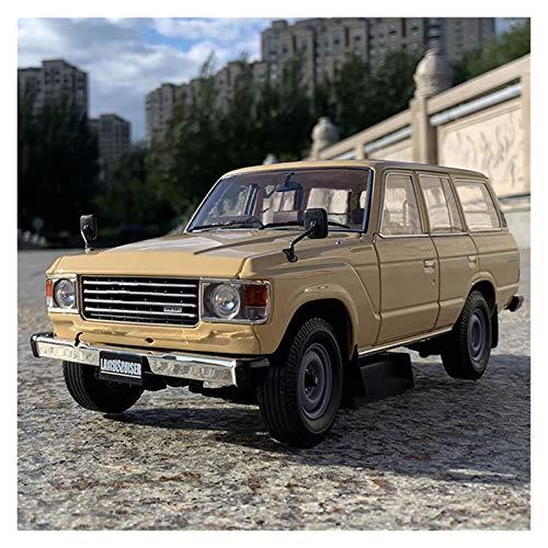 GEBAN Vehículo a Escala 1:18 para Toyota Land Cruiser LC60 Aleación De Vehículos Fuera De Carretera Plástico PRONTORIO PROPORTANTE SIMULACIÓN MINIURA Modelo Modelo Car (Color : Metallic)