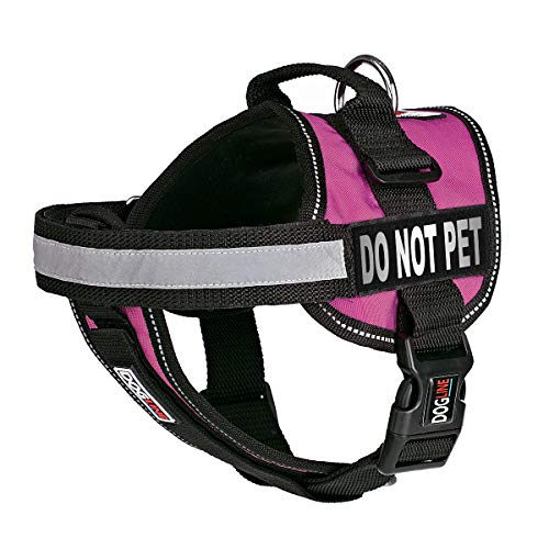 Dogline Vest Harness for Dogs and 2 Removable Do Not Pet Patches, Large/28 to 38