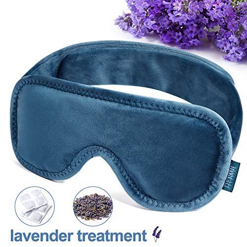 Lavendel slaapmasker, glad zacht weefsel, goede ademend, duikmasker vorm zorgt voor betere schaduw, 100% natuurlijke geur Lavende rsache, laat uw druk en ontspannen uw geest,