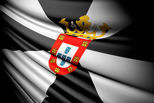 Oedim Bandera de La Comunidad de Ceuta 85x150cm | Reforzada y con Pespuntes| Bandera de La Comunidad de Ceuta con 2 Ojales Metálicos