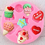 WYNYX Stampi in Silicone per Cupcake Gelato Stampi per Cioccolato in Argilla Caramella Cuore 3DCompleanno Cupcake Topper Strumenti per la Decorazione di Torte Fondente