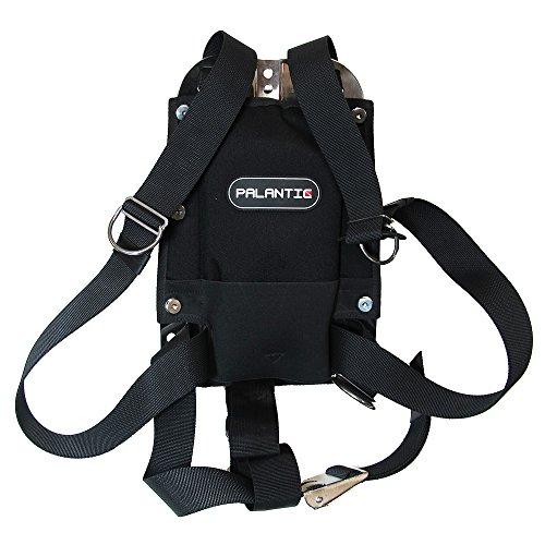 Palantic Techical Diving - Placa Trasera de Acero Inoxidable con Sistema de arnés y Respaldo y cinturón para el Tanque