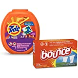Tide PODS 3 in 1 HE Turbo Laundry Detergent Pacs, Spring Meadow Scent, 81 Count Tub with Dryer…