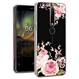 Nokia 6.1 Case, Nokia 6 2018 Case with Flowers, Booceicd