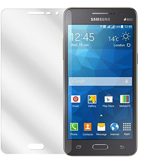 dipos I 2X Schutzfolie klar kompatibel mit Samsung Galaxy Grand Prime Folie Bildschirmschutzfolie