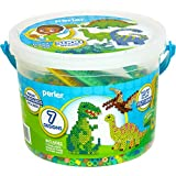 Perler Dinosaur Craft Bead Bucket Activity Kit, 5004 pcs