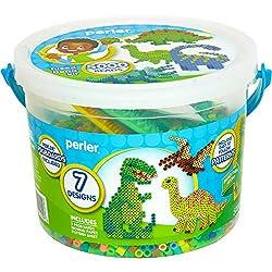 1. Perler Dinosaur Craft Bead Bucket Activity Kit (5004pcs)