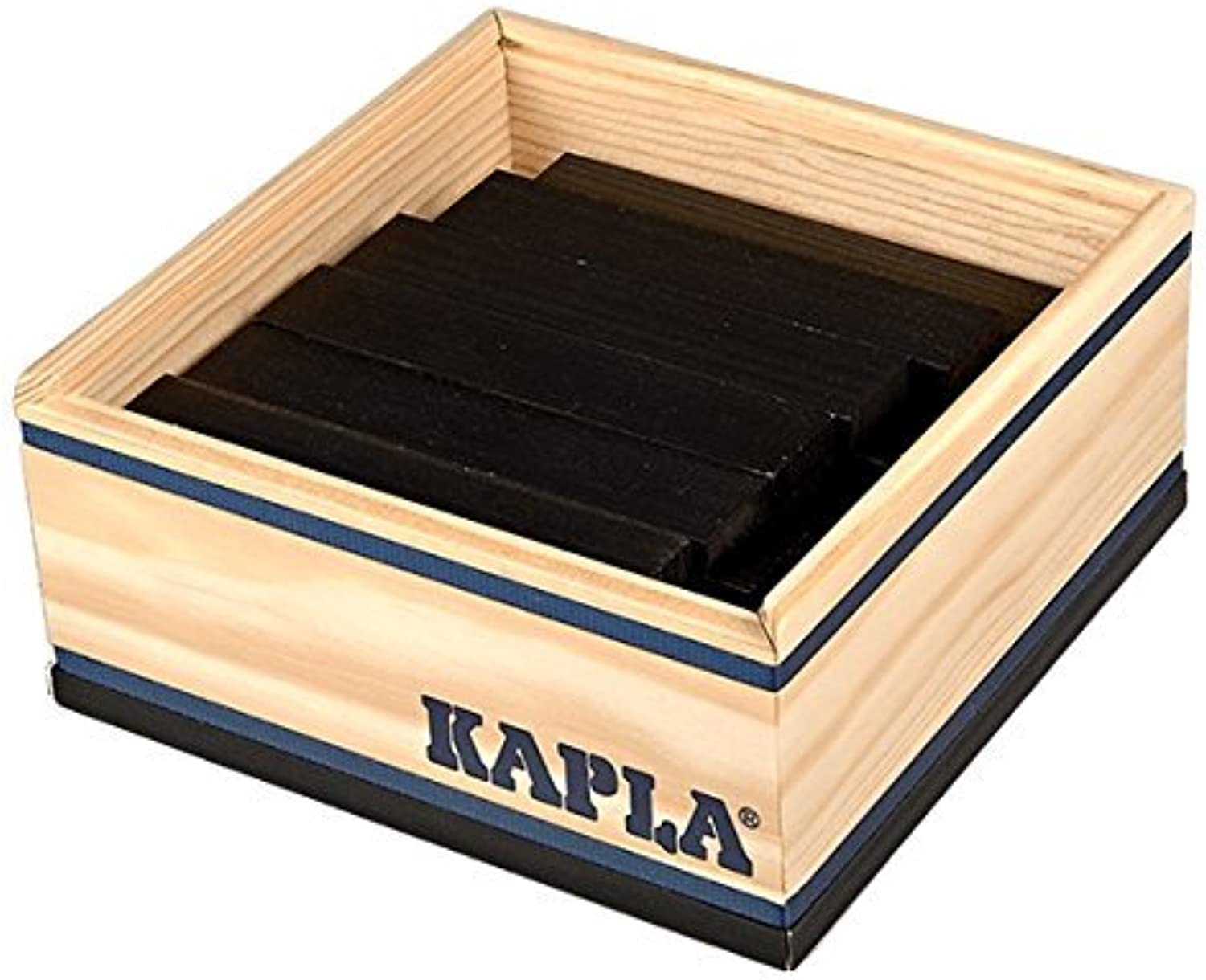 Kapla 40 Piece Wooden Block Set In schwarz by Kapla