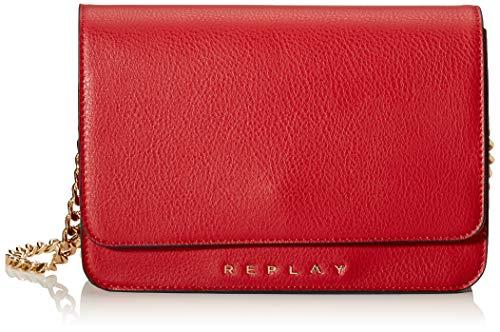Replay Damen Fw3880.000.a0132d Umhängetasche, Rot (Gloss Red), 4,5x12,5x18 cm