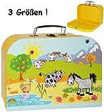 alles-meine.de GmbH 1 Stück _ Kinderkoffer / Koffer - GROß -  Bauernhof / Tiere  - ideal für Spielzeug und als Geldgeschenk - Mädchen & Jungen - Kinder & Erwachsene - Pappe Kar..