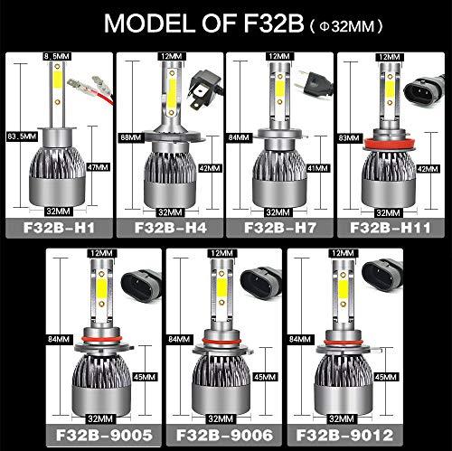 Kit de conversion ampoules de phares à DEL, phares tout-en-un à DEL 6400Lumen 6000K super brillants avec puce CSP - 1 paire (Edition : H1)