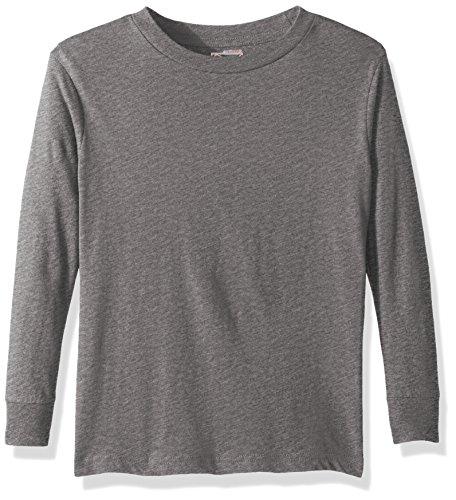 Puma Men's City Long Sleeve Blank Tee, Youth Medium, Gray
