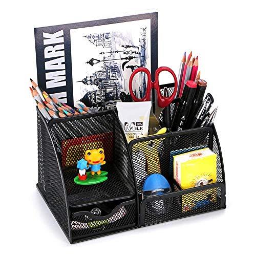 YXFYXF Compartimientos de Almacenamiento Metal, Organizador de Escritorio 6 estantes, Organizador de Oficina Compacto, cajón, Soporte, bolígrafo, Negro, 1S (Size : 2Stück)