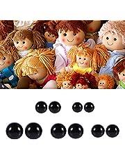 Ojos de muñeca de Seguridad con Arandelas Plástico Negro 6-12mm DIY Craft