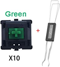 Cherry Switch ,Keycap, Cherry Mx Switches, Keyswitches Keymodule ,Mechanical Keyboard Switches Replacement (10 pcs. Set (Green)+Keycap Puller)