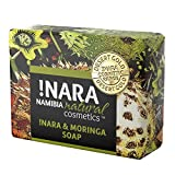 Jabón hecho a mano !Nara Cosmética natural orgánica con Moringa 80g jabón de aceite suave para el cuidado diario facial y corporal con efecto antiinflamatorio para pieles muy sensibles y psoriasis.