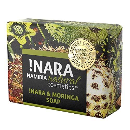Nara Seife mit Moringa, handgemachte Naturkosmetik Öl-Seife zur täglichen Gesichtspflege und Körperpflege (1x80 gr)